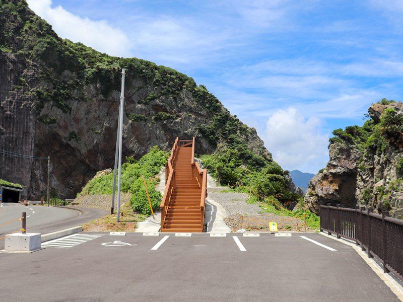 徳浜の断崖