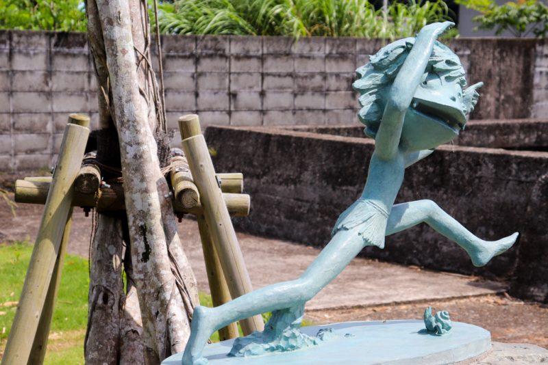 釣りイカダ宇検 ケンムン像
